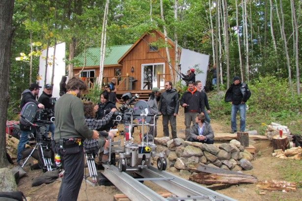 behind the scene at the cabin