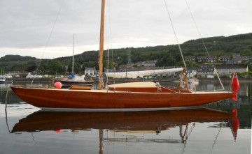 Wooden Classic  23ft  Day Sailer.  Port Side