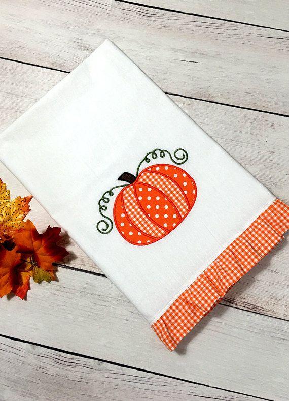 Flour Sack Towel  Applique Towel  Fall Towel  by BoxofBobbins                                                                                                                                                                                 More