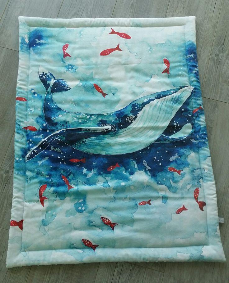 Couverture bébé- modèle baleine - plaid bébé - couverture fait main : Puériculture par small-sleeper