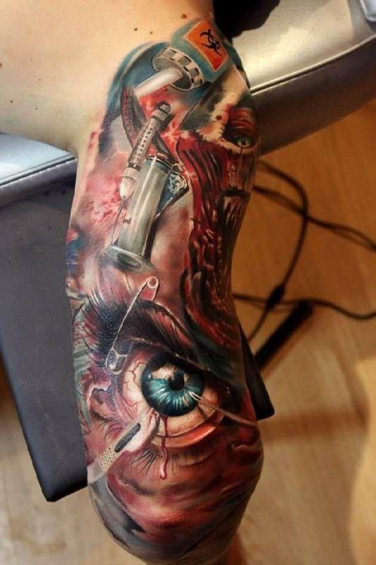 Tattoo Arm Fantasy Horror Tattoo #Tattoo, #Tattooed, #Tattoos
