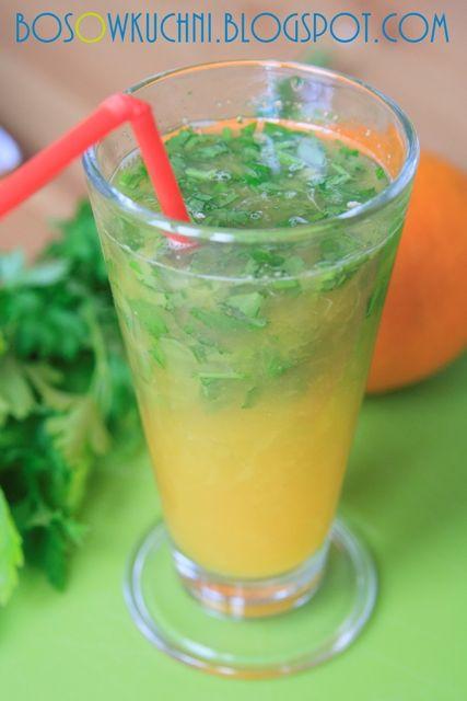 Orange Parsley Juice - Detox Napój Pomarańczowo-Pietruszkowy wg 5 Przemian