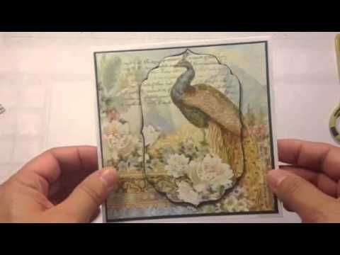 Decorate your card with napkins--different than with saran wrap
