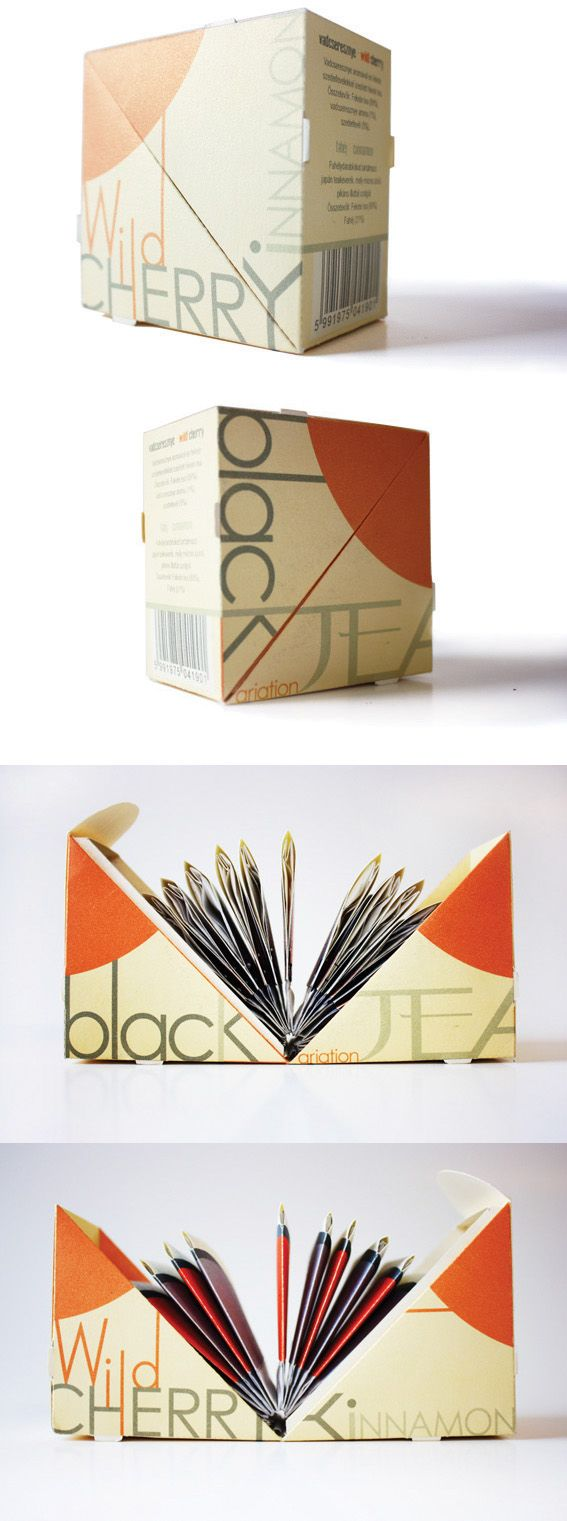 Tea packaging design by Judit Menkó