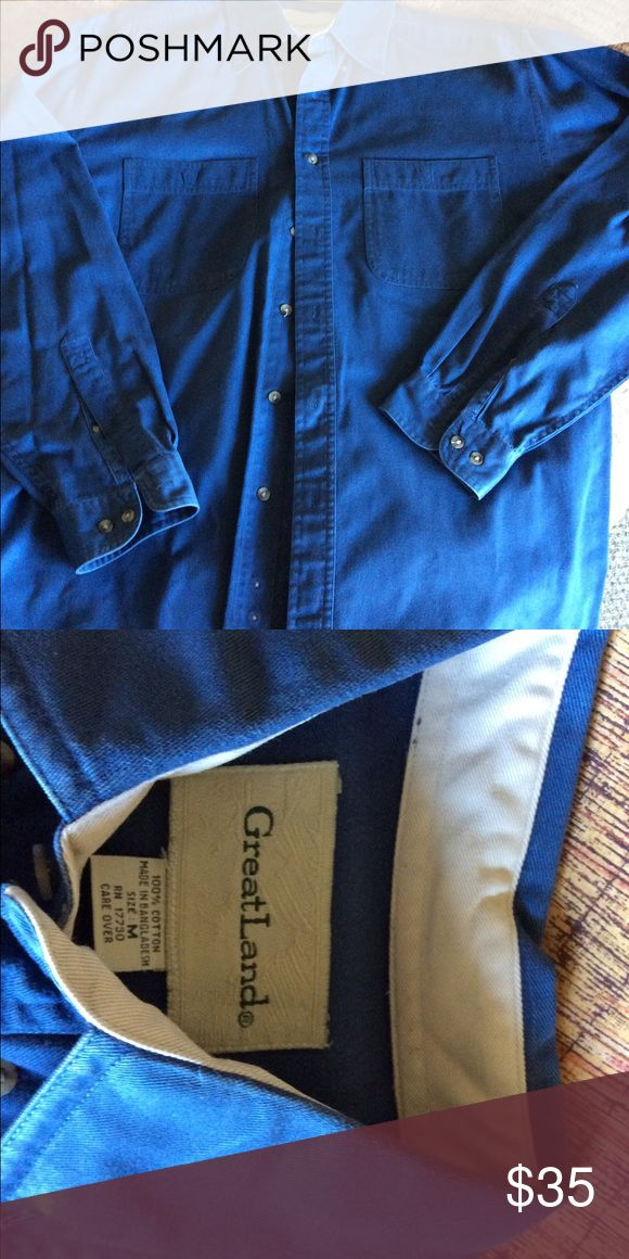 Men's Oxford Shirt Great blue Men's Oxford Shirt great land Tops Button Down Shirts