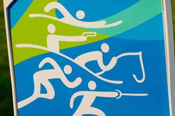 The Rio 2016 modern pentathlon pictogram (ATR)