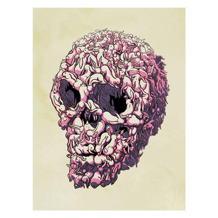 kozyndan bunny skull poster