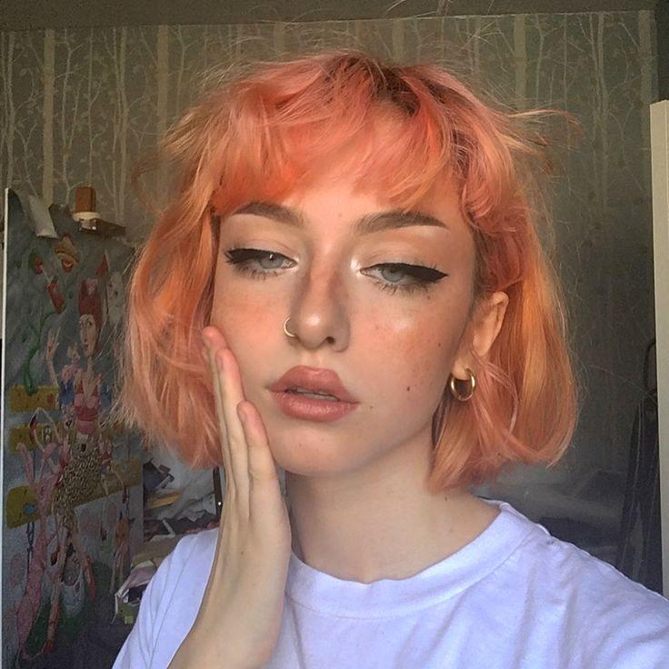 Drawing Art Design Peach Hair Hair Beauty Hair Makeup