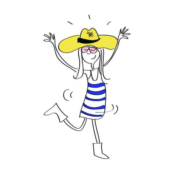 Dancing in hat