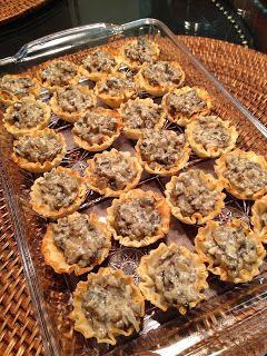 The Swedish Chef: Phyllo Appetizer Cups with Mushroom Filling