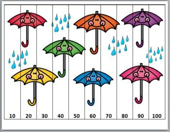 Spring Theme Counting Puzzles- Numbers 1-120 - Spring Activity