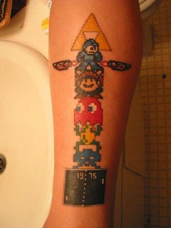 Retro gaming tattoo