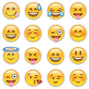 Happy Smiley Emojis, $16, now featured on Fab.