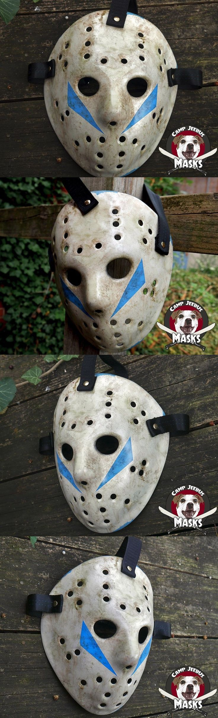 Masks and Eye Masks 116724: Friday The 13Th Part 5 (V) Film Accurate Hand Painted Jason (Roy) Hockey Mask -> BUY IT NOW ONLY: $90 on eBay!