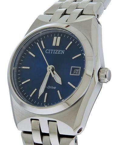 Citizen Eco-Drive Ladies Corso - Blue Dial - Stainless Steel Case & Bracelet