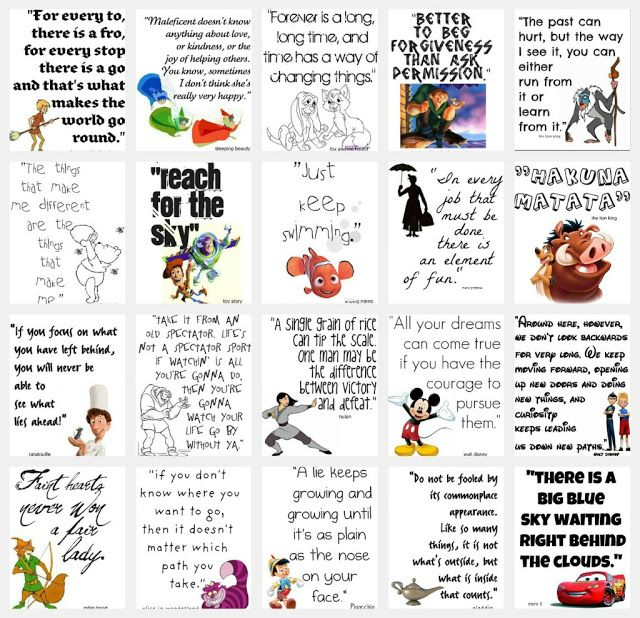 Disney Movie Quotes | So You Think You're CraftySo You Think You're Crafty