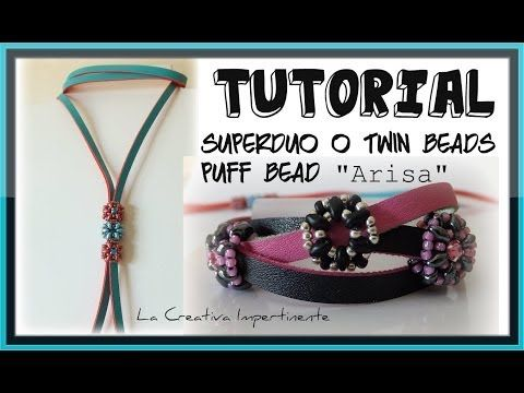 "Tutorial - Come realizzare una Rondella di Superduo o Twin - DIY - ""Arisa"" Beaded bead - YouTube"