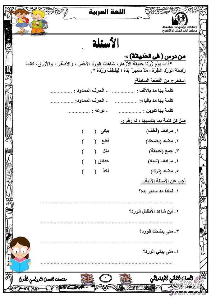 مراجعة لغة عربية للصف الثاني الابتدائي الفصل الدراسي الأول Learn Arabic Online Learn Arabic Language Arabic Lessons
