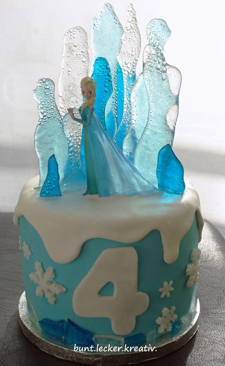 Elsa, die Eiskönigin als Torte …Elsa from Frozen as a cake …