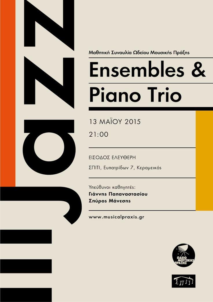 Jazz Ensembles & Piano Trio concert 2015 poster by Sofia Braila
