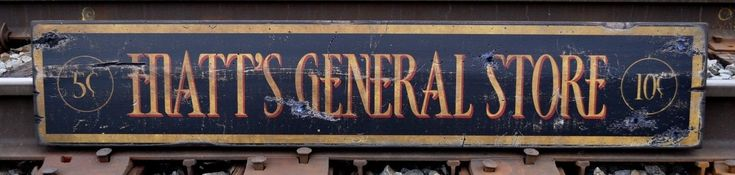 Old General Store Signs   ... General Store Wood Sign - Rustic Hand Made Vintage Wood Sign