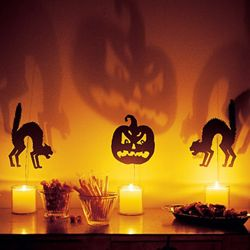 DIY Halloween Decorations - cutout shadows