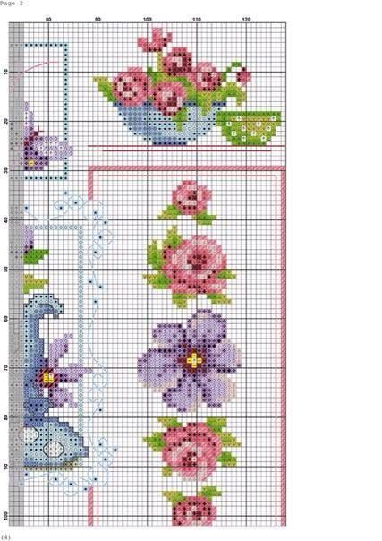 Flower Baskets Cross Stitch Charts : Best sepetler ? ?ekler baskets flowers images on