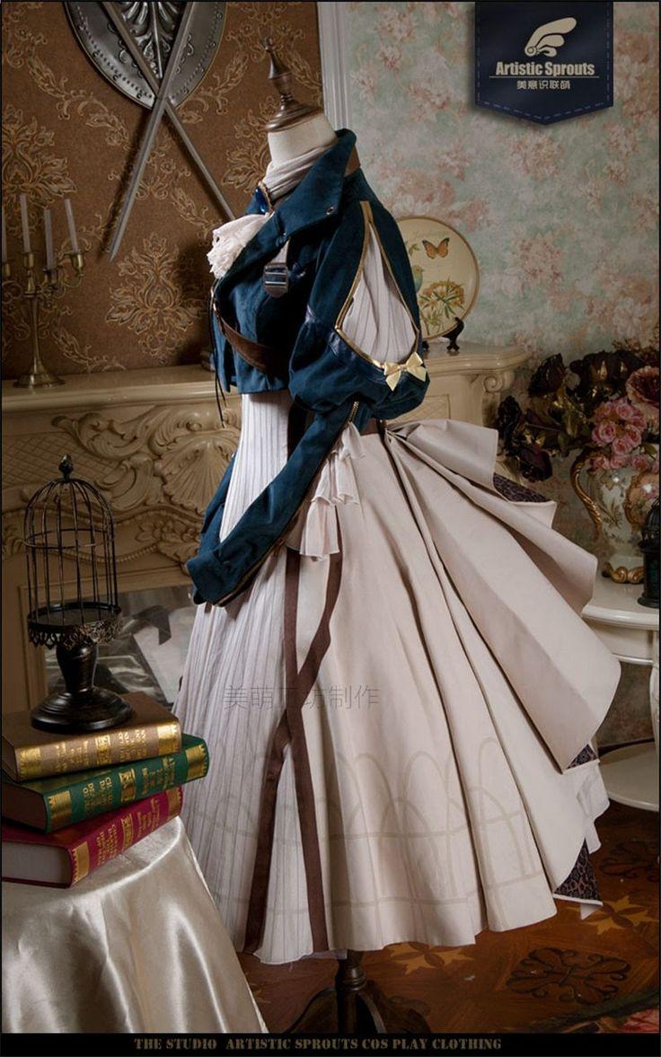 Japansk Anime Violet Evergarden Cosplay Kostume Daglig Suits Hot Sale Dress (afsendt i maj)