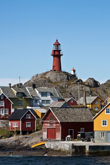 Ona Lighthouse - It is located on the small island of Ona in the municipality of Sandøy in Romsdal country, Norway
