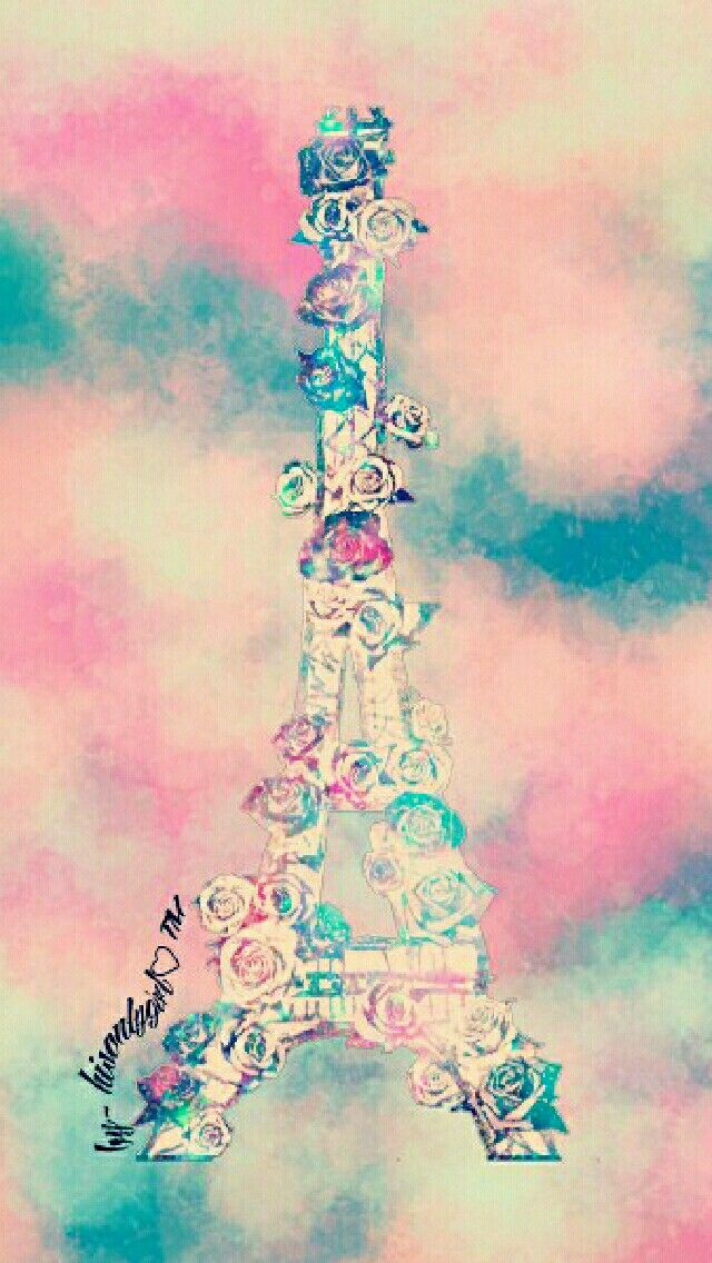 Floral Grunge Eiffel Tower Galaxy Wallpaper I Created For The App CocoPPa