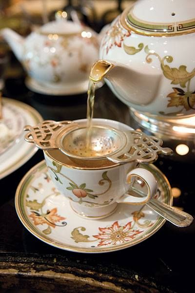 A Tea Strainer.  I love the over the cup strainer.  Some gorgeous ones in the Fortnum and Mason online store #AfternoonTea