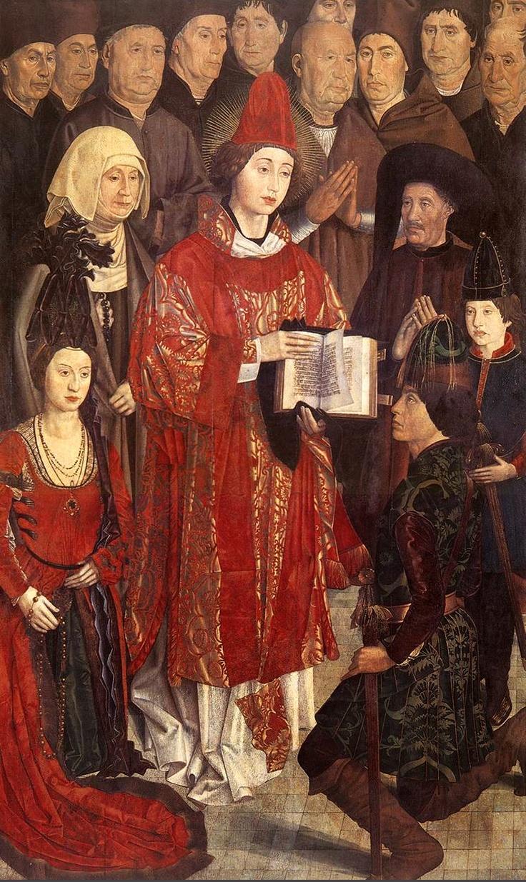St Vincent Panels: The third panel - Panel of the Princes, Nuno Gonçalves, circa 1460