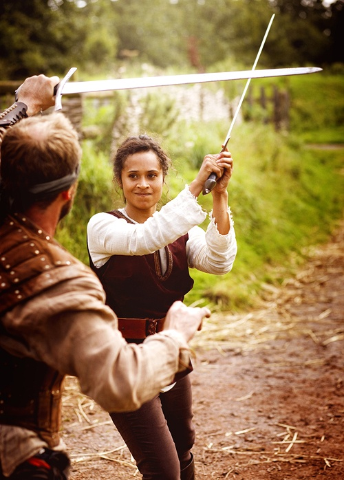 "Angel Coulby, ""Merlin"", 2010 #sword"