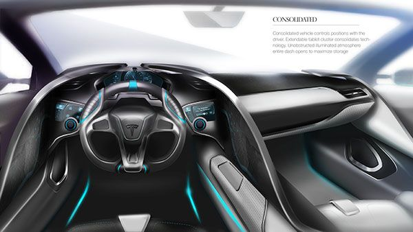 Tesla 2020 Interior On Behance