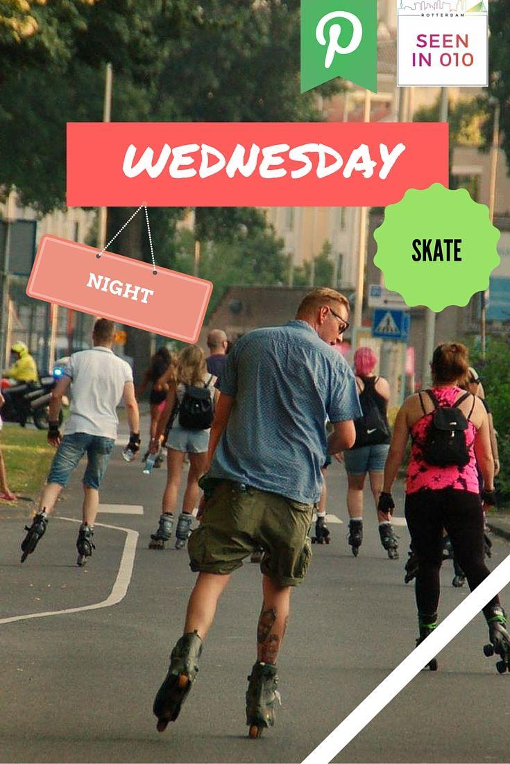Altijd al een keer willen skaten in een menigte met fijne harde muziek, vrolijke mensen en dit gewoon op de openbare weg waar normaal gesproken de auto's overheen rijden? Dat kan in Rotterdam!  #Skate #Rollerblade #Skating #Rotterdam #Seenin010 #skateboard #Skateboarding