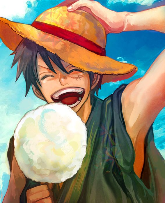 Tags: Anime, ONE PIECE, Monkey D. Luffy, Straw Hat, Cotton Candy, ^ ^, Pixiv Id 5006590