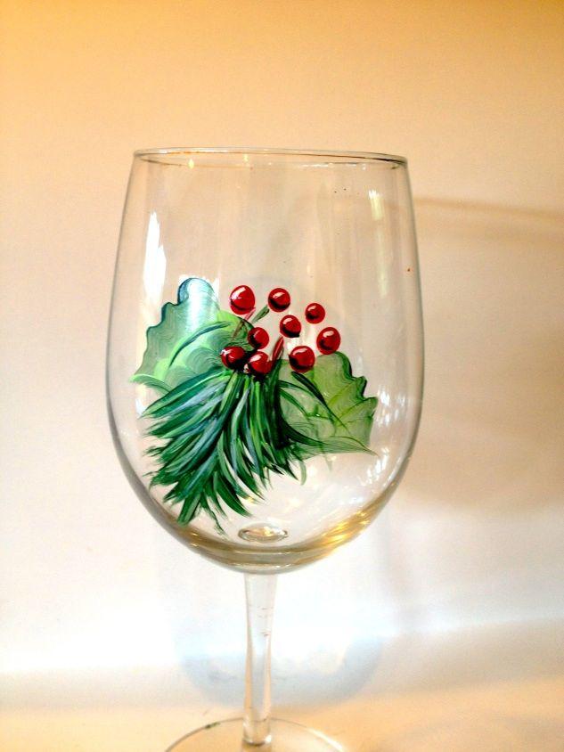 566 besten christmas party fun bilder auf pinterest for Christmas painted wine glasses pinterest