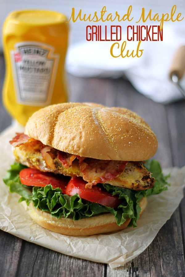 Mustard Maple Grilled Chicken Club A new take on grilled chicken! These will become a summer staple for your grill! #KetchupsNewMustard #CollectiveBias