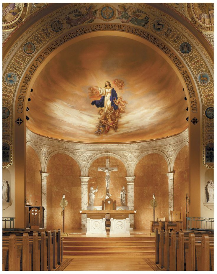 Mural Replication of Murillo's Immaculate Conception Cathedral, Memphis, Tennessee