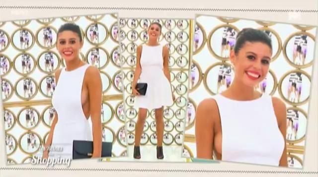 """Le look final de Melinda des Reines du Shopping pour le thème """"élégante en dévoilant votre dos"""""""