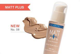 Matte Plus Liquid Foundation | Seventeen Cosmetics Revolutionary liquid make-up for the definitive matte effect. #Seventeen #Cosmetics #makeup #matte
