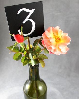 Chalkboard Wedding Ideas & FREE printables | Confetti Daydreams - Chalkboard Wedding Table Number Stakes. Get our DIY Tips here! ♥  ♥  ♥ LIKE US ON FB: www.facebook.com/confettidaydreams  ♥  ♥  ♥ #Wedding #Decor #DIY #Chalkboard