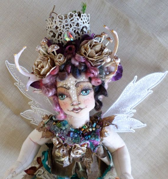 OOAK Art Doll  Annavieve Indigo Meadowcharm  by paulasdollhouse
