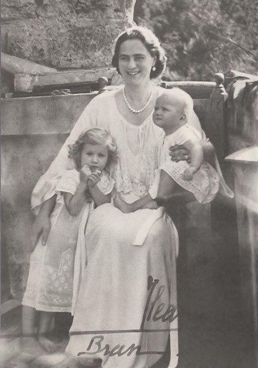 Princess Ileana of Romania with her children