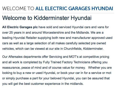 WELCOME! http://www.allelectric.co.uk/hyundai/