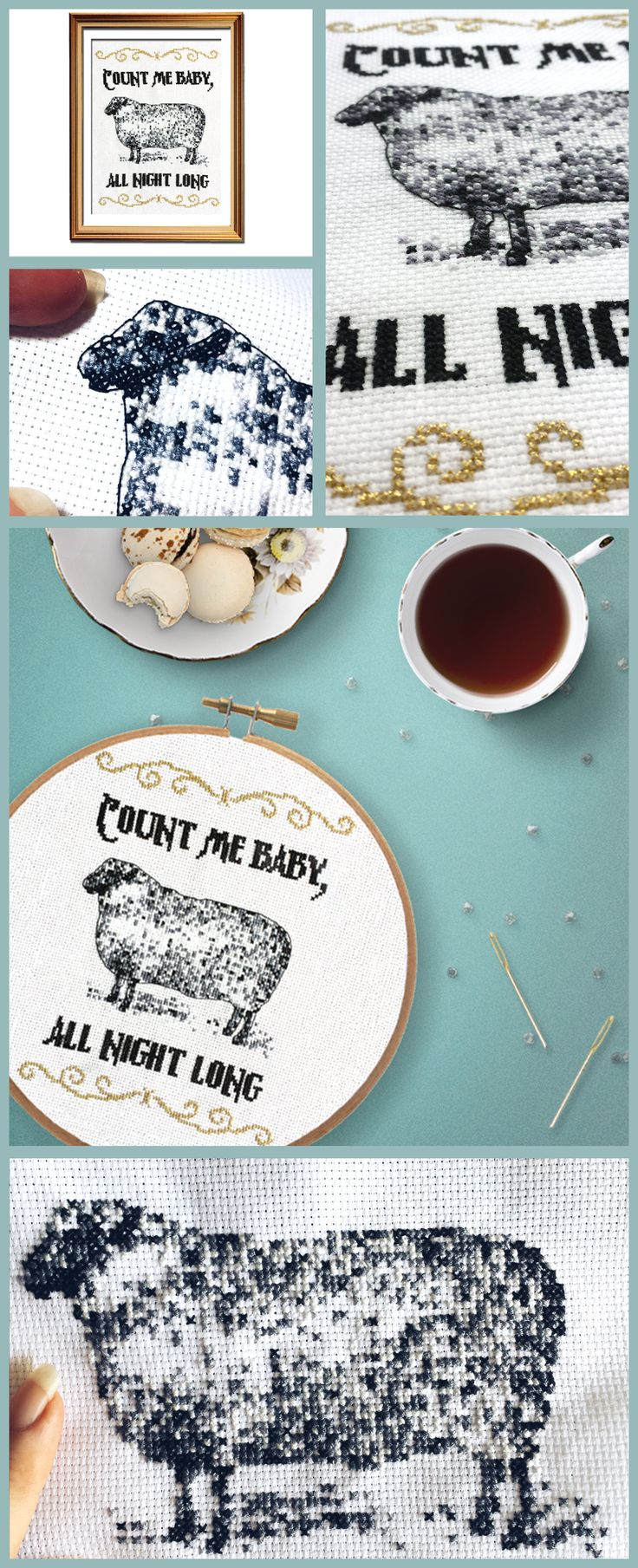 The perfect funny cross stitch pattern for insomniacs