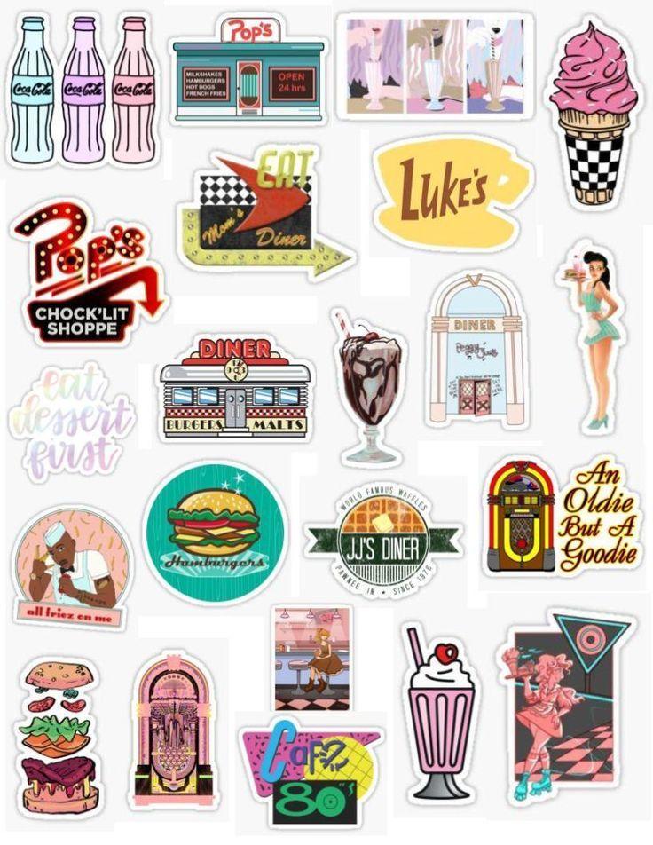 Retro Diner Stickers Diner Phonecase Retro Stickers Tumblr Stickers Iphone Case Stickers Cool Stickers