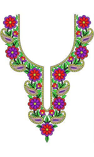 Gentlewoman Flower Pattern Embroidery Design