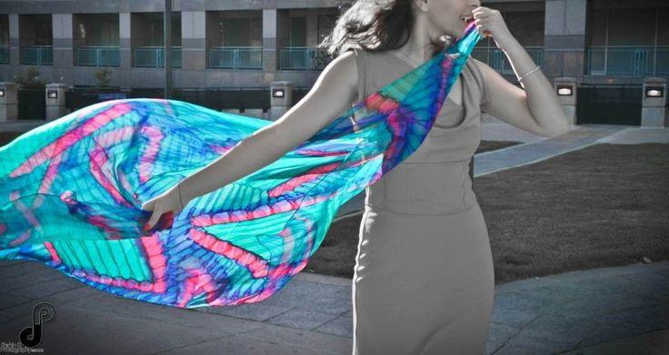 72 inch long 100% Chiffon Silk- $80 (plus shipping)
