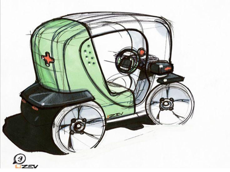 Nice Renault Twizy Concept   Design Sketch